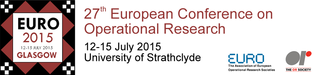 EURO 2015 27th Annual Conference - 12 July to 15 July 2015 - University of Strathclyde